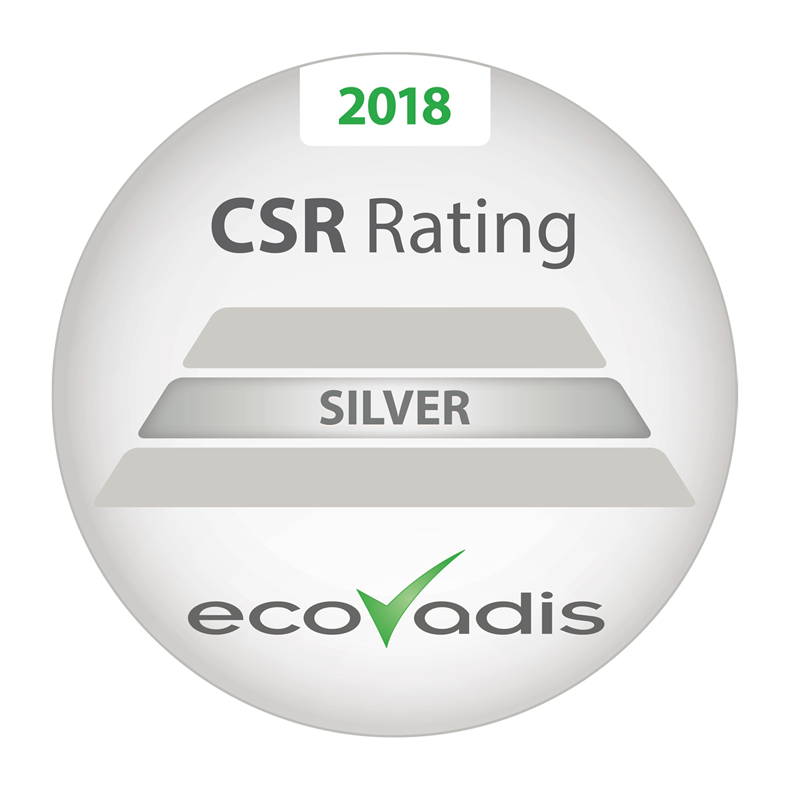 EcoVardis Silver Rating 2018